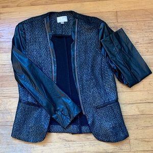 Vintage tweed and leather jacket